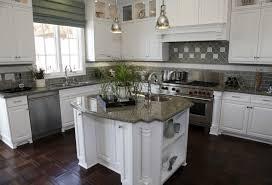Vinyl Flooring Kitchen White Cabinets And With Olive Green Tile Backsplash An Ornate Dark