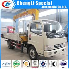 China Low Price Dongfeng 4x2 Light Duty Truck With Crane 1 Ton 2 ...