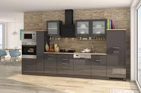 küchenzeile münchen vario 4 küche mit e geräten breite 370 cm hochglanz grau graphit