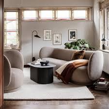 ferm living 3 sitzer sofa bouclé sand