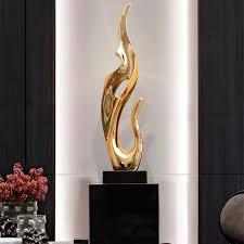 gold silber harz desktop decor abstrakte skulptur wohnzimmer tv schrank eingerichtet hotel lobby kunst galvanik orn r3969