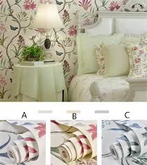 großhandel 10mx 53cm chinoiserie tapete schlafzimmer wandverkleidung modernen vintage rosa blumentapete blau tropischer schmetterling vögel blume