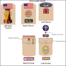 Cub Scout Committee Chair Patch Placement by Webelos Badge Location Webelos Webelos Sleeve Pocket Summary