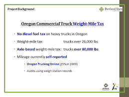 100 Oregon Online Trucking A Preliminary Study Applications Of Smart Phone Truck Data To