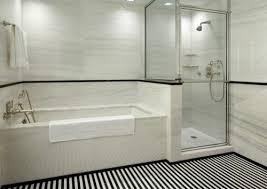 black and white subway tile bathroom for modern bathroom designs