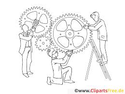 Mécanisme Image Coloriage Travail Illustration Travail