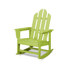 POLYWOOD Long Island Plastic Rocking Chair(s) With Slat Seat ...