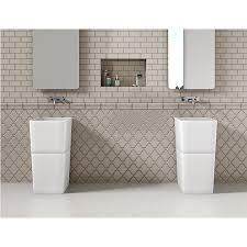 inspiring baths arabesque and subway tile bathroom wall at the