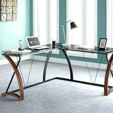 L Shaped Desk Walmart Instructions by L Shaped Glass Desk Wondrous L Shaped Glass Desk Images Shape