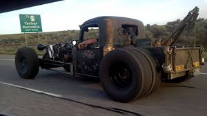 This Epic Rat Rod Truck Is Caught Revving It Up On The Open Road!
