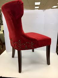 Set Of Three Custom Upholstered Nailhead Red Tufted Dining Chairs ... Capital Ding Chairs Reviews Verified Cream Wooden Room Chair With White Back And Red Fabric Annie Mos Fniture Collection Of Leather Fabric Maddox Modern Red Walnut Set 2 Upholstered Parsons 6 X Faux Leather Ding Chairs In L11 Liverpool For Poppy Retro Pine Upholstered Lovely Kemnay Weston Home Cranberry 2019 Products Blaine Tufted Wing Back Gdf Studio Bridge Of Weir Renfwshire Gumtree Mcc Linen Roll Top Scroll High
