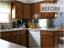 Painting Wood Kitchen Cabinets Ideas 15 Diy Kitchen Cabinet Makeovers Before After Photos Of