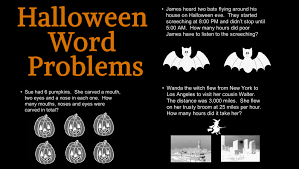 Halloween Brain Teasers Math by Halloween Word Problems Wilma Witch U0027s Party Printable Teachervision