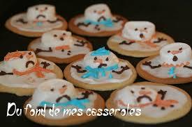 melted snowman cookies biscuit bonhomme de neige fondu du fond