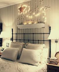 Starfish With Christmas Lights Over Bed
