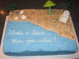 Works A Beach Retirement Cake