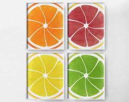Citrus Print Decor Fruit Kitchen Art Poster