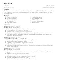 Housekeeping Summary For Resume Effective Resumes Examples Supervisor Housekeeper Samples