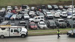 100 Truck Wrecks Videos Flatbed Slams Through Parking Lot Fence Crashes Into 22