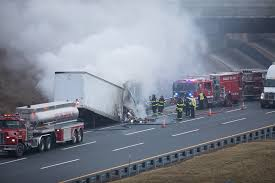 100 Milk Truck Accident New Jersey Turnpike New Jersey 1015
