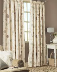 Jacobean Floral Country Curtains by Juliana Natural Ready Made Curtains A Special Contemporary
