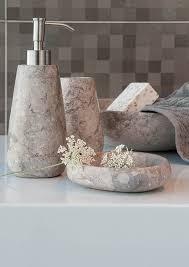 standfeste bad accessoires aus marmor badezimmer