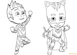 Coloring Book Detail Name Pj Masks Gecko Pages