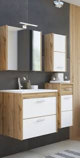 badmöbelset brisbane ii weiß oak votan dekor 4 teilig badezimmerset badezimmer modern