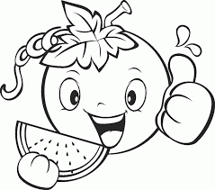Coloring Pictures Of Fruits And Vegetables To Color For Kids Plants