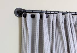 Curtain Rod Extender Diy by How To Make A Diy Industrial Pipe Curtain Rod Angie U0027s List