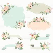 Rustic Floral Frame Elements Illustration Royalty Free Stock Vector