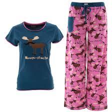 sleep u0026 co black u0026 pink u0027chill out u0027 penguin pajama set women