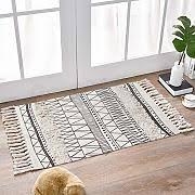badteppich schwarz weiß günstig kaufen lionshome