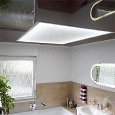 lichtdecke im badezimmer spanndecke plameco plameco