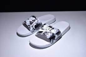 Mens Nike Benassi JDI Print White Camo 618919 104 Summer Beach