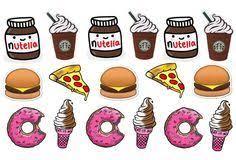 Food Stickers Nutella Sticker Starbucks Tumblr Pack Of 17