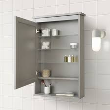 hemnes spiegelschrank 1 tür grau 63x16x98 cm