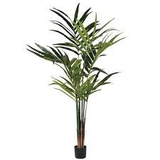 große kunstpflanze kentia palme in schwarzem topf