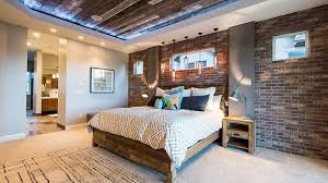 Reclaimed Wood Ceiling And Exposed Brick Walls In The Bedroom Design Canyon River Homes