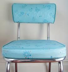 Vintage Circa 1950s Kitchen Chairs Aqua Atomic Pattern