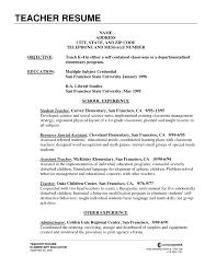 Teaching Resume Examples Elementary Teacher Resume Template Free