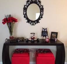 Red And Black Living Room Decorating Ideas by Not To Crazy About The Black And Red But My Husband Loves It
