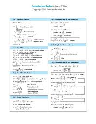 Triola Formula And Tables Card Yumpu En Document View 25194378