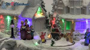 Pre Lit Christmas Tree Rotating Base by Werchristmas 28 Cm Pre Lit Polyresin Village With Rotating Figures