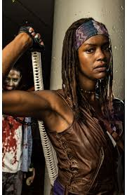 michonne vest danai gurira walking dead leather vest