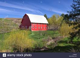 A Bright Red Barn In The Palouse Region Of Eastern Washington ... Red Barn Washington Landscape Pictures Pinterest Barns Original Boeing Airplane Company Building Museum The The Manufacturing Plant Exterior Of A Red Barn In Palouse Farmland Spring Uniontown Ewan Area Usa Stock Photo Royalty And White Fence State Seattle Flight Interior Hip Roof Rural Pasture Land White Fence On Olympic Pensinula