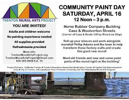 Philadelphia Mural Arts Map by Mural Design Unveiled Community Paint Day April 16 Trenton