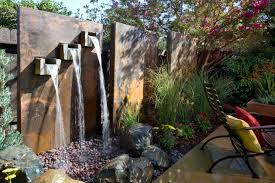 Download Backyard Feature Walls Garden Design Inexpensive Water Wall