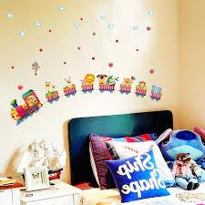 zug kindergarten wandgestaltung tapete aufkleber baby schlafzimmer kinderzimmer wandaufkleber