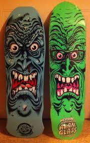 Santa Cruz Pumpkin Patch 2015 by A Santa Cruz Rob Roskopp 2003 Issue And A Heroin Skateboards 2005